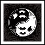 Ghost Yin Yang Black and White, Digital Art / Computer Art, Pop Art, Cartoon, Fantasy, Humor, Digital, By John Schwegel