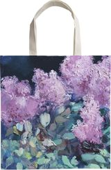 Lilac night, Paintings, Expressionism, Fine Art, Impressionism, Realism, Floral, Canvas, By Anastasiia Grygorieva
