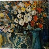 AUGUST FLOWERS, Paintings, Impressionism, Floral, Canvas, Oil, By VIKTOR VOLKOV