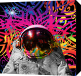 Astronaut Time Warp, Digital Art / Computer Art, Commercial Design, Hallucinogens, Modernism, Avant-Garde, Celestial / Space, Fantasy, Digital, By Matthew Lacey