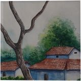 water color on paper, Paper Art, Fine Art, Landscape, Painting, By samiran goswami