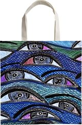 Eyes faces art Israel by modern artist painter Mirit Ben-Nun, Drawings / Sketch, Expressionism, Floral, Ink, By Mirit Ben-Nun