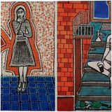Israel artist woman jewish painter autentic paintings Mirit Ben-Nun, Paintings, Expressionism, People, Ink, By Mirit Ben-Nun