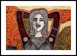 Israeli painters woman Mirit Ben-Nun decorative modern art, Paintings, Expressionism, People, Ink, By Mirit Ben-Nun