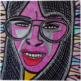 Portraits Israeli woman Mirit Ben-Nun decorative modern art, Paintings, Expressionism, People, Ink, By Mirit Ben-Nun
