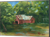 Forgotten Barn, Paintings, Realism, Landscape, Oil, By Sherry S. Robinson
