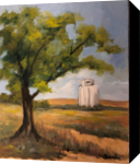 Kansas Elevator, Paintings, Realism, Landscape, Oil, By Sherry S. Robinson