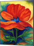 Poppies, Paintings, Realism, Botanical, Oil, Pastel, By Sherry S. Robinson