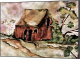 The Old Abandoned Red Barn Building, Paintings, Fine Art, Landscape, Painting, By Pamela Floreva Stocker