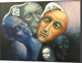 """The chatter in our head"", Paintings, Expressionism, The Unconscious, Oil, Painting, By sally Guariglia"