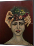 Many Personalities, Paintings, Expressionism, The Unconscious, Oil, Painting, By sally Guariglia