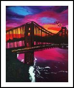 Meet me in San Francisco, Paintings, Fine Art, Environmental art, Acrylic, By Queen Noble