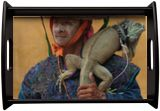 Man with iguana, Photography, Existentialism, Expressionism, Fine Art, Impressionism, Modernism, Photorealism, Pop Art, Realism, Animals, Botanical, Conceptual, Daily Life, Documentary, Figurative, Narrative, Nature, People, Portrait, Wildlife, Window on the World, Photography: Photographic Print, Photography: Premium Print, Photography: Stretched Canvas Print, By Christopher William Adach