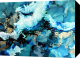 Arctic Blue, Paintings, Abstract, Composition, Ink, By Amber Lamoreaux