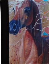 Art Nouveau Party Horse, Paintings, Abstract, Expressionism, Fine Art, Modernism, Realism, Animals, Decorative, Nature, Wildlife, Oil, By Gill Bustamante