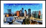 The Los Angeles view, Architecture, Digital Art / Computer Art, Expressionism, Impressionism, Photorealism, Architecture, Cityscape, Canvas, Photography: Photographic Print, Photography: Stretched Canvas Print, By Gaurav Garg