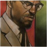 Brother Malcolm, Paintings, Fine Art, Conceptual, Pastel, By James Calvin Barnes