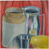 Still life of kitchen things, Pastel, Realism, 3-D, Pastel, By Vigash Kumar