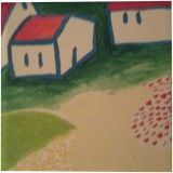 Cabins in Nature, Land Art, Abstract, Land Art, Acrylic, Canvas, By Preston Wilbur