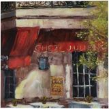 Cafe on the street, Paintings, Fine Art, Land Art, Canvas, By maka magnolia