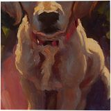 Dog, Pastel, Fine Art, Animals, Canvas, By maka magnolia