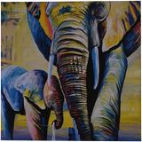 Elephants, Paintings, Fine Art, Animals, Canvas, By maka magnolia