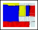 80's Mondrian Atmosphere, Digital Art / Computer Art, Minimalism, Analytical art, Digital, By Henry Lizarraga
