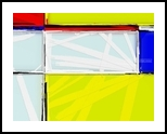 80's Mondrian Love, Digital Art / Computer Art, Abstract,Minimalism, Analytical art,Decorative, Digital, By Henry Lizarraga