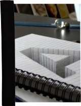 Drawing of a hole letter A in line paper/ 3D Trick Art