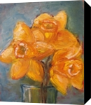 A Breath of Sunshine, Paintings, Abstract,Impressionism, Botanical,Floral,Nature,Still Life, Canvas,Oil, By Runa Bakshi