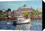 Along Monhegan Islane, Paintings, Impressionism,Realism, Seascape, Oil, By Richard John Nowak