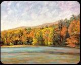Autumn Colors, Paintings, Impressionism,Realism, Landscape, Oil,Painting, By Richard John Nowak
