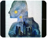 Batman Watercolor, Paintings,Poster, Fine Art, Cityscape,People, Watercolor, By Sukrriti Aggarwal