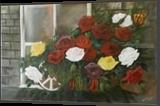 Beyond the window pane, Paintings, Fine Art, Botanical,Daily Life,Environmental art,Fantasy,Nature, Acrylic, By Avanthi Dileka Lelwala