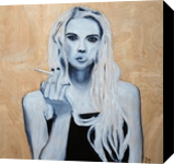 Blonde On Blonde, Paintings, Expressionism, Figurative,Portrait, Oil,Wood, By Paul Cox