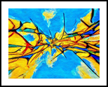 Blue Wrapped Shrunk, Decorative Arts,Digital Art / Computer Art, Abstract,Minimalism,Modernism, Decorative, Digital, By Henry Lizarraga