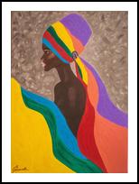 Bolanail, Decorative Arts, Fine Art,Modernism, Decorative,People,Portrait, Canvas,Oil,Painting, By Irina Remiskevich