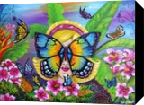 Butterfly, Paintings, Expressionism,Fine Art,Modernism, Animals,Figurative, Canvas,Oil, By Helen - Bellart