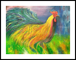 Colorful Rooster, Paintings, Fine Art, Animals,Children,Decorative, Acrylic, By Sweety Lohani