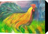 Colorful Rooster, Paintings, Fine Art, Animals,Decorative, Acrylic,Canvas, By Sweety Lohani