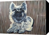 Cute Puppy, Decorative Arts,Paintings, Fine Art, Animals,Decorative, Acrylic,Canvas,Mixed,Painting, By Sweety Lohani