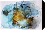 EPHEMERAL LANDSCAPES #4/ SERIES OF ABSTRACT, Paintings, Abstract, Landscape,Seascape, Ink,Oil, By Anna Sidi Yacoub