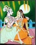 FULL MOON IGNITES TRUE LOVE, Decorative Arts, Romanticism, Historical, Canvas, By RAGUNATH VENKATRAMAN