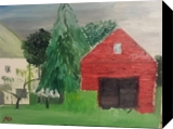 Farm, Paintings, Impressionism, Landscape, Oil, By MD Meiser