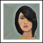 French Girls 1, Paintings, Expressionism, Portrait, Canvas,Oil,Painting, By Paul Cox