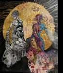 Full moon, Paintings, Fine Art,Symbolism, Dance, Canvas, By olga zelinska