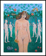 Garden temptations, Paintings, Surrealism, Animals,Erotic,Fantasy,Religious, Acrylic,Canvas, By Victor Ovsyannikov