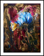 Golden Age, Paintings, Expressionism,Fine Art,Modernism,Realism, Portrait, Acrylic,Epoxy,Oil, By Anna Sidi Yacoub