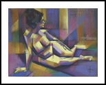 Henriette Sibie - 21-01-17 (session at Studio Brugman), Drawings / Sketch, Abstract,Cubism,Fine Art,Realism, Anatomy,Composition,Nudes, Pastel, By Corne Akkers