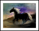 Horse, Paintings, Abstract,Expressionism,Fine Art, Animals,Fantasy,Figurative, Oil,Pastel, By Nelepcu Samuel Emanuel